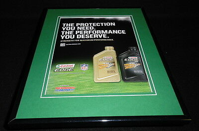 2013 Castrol Edge Motor Oil / NFL Framed 11x14 ORIGINAL Vintage Advertisement