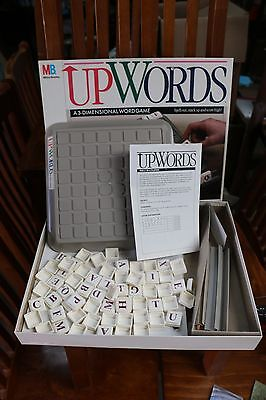 Upwords - The 3 Dimensional Word Board Game - 1988 - Milton Bradley - Complete