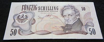 1970 Austria 50 Schilling Bank Note in VF Condition Nice Collectible Note!
