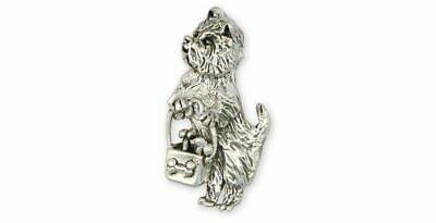Westie Brooch Pin Jewelry Sterling Silver Handmade West Highland White Terrier B