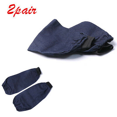 2 Pair Arm Welding Denim Wear-resistant Dustproof Sleeves Protection