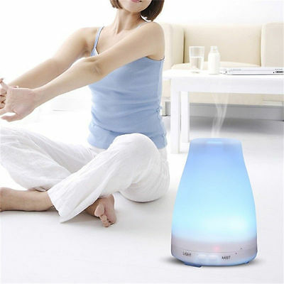 Electric Aroma Diffuser & Humidifier Air Purifier Colour Changing Ultrasonic