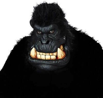 Men Killa Gorilla Halloween Mask Oversized Head Gargantuan Mouth 60239