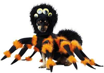 Fuzzy Spider Pet Dog Costume Fur Headpiece Attach Googgly Eyes Fury Legs