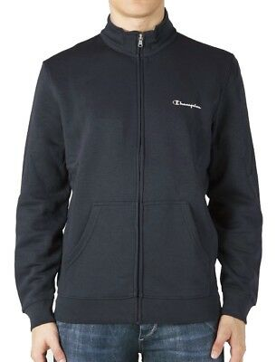 Champion Full Zip Long Sleeve Sweatshirt - Navy