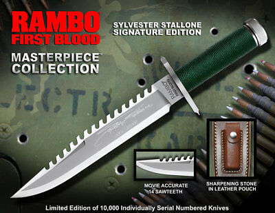 Rambo Replik 1/1 Messer Knife Jagdmesser 36cm Signature Edition Life Size