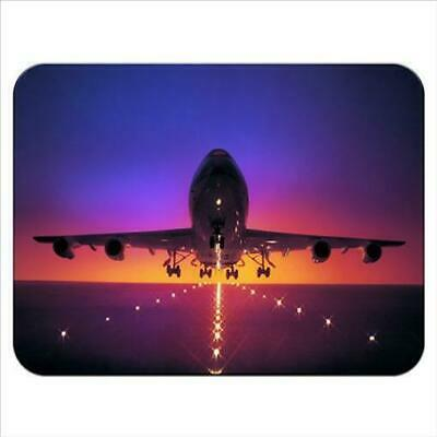 Plane Taking Off from Runway At Dusk Sky Colours Mouse Mat Pad /& Coaster