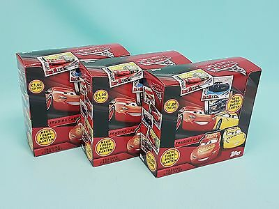 Topps Disney Cars 3 Trading Card 3 x Display / 108 Booster