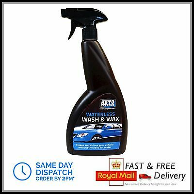800ml Waterless Car Wash And Wax Shine Valeting Spray Cleaner Shampoo Exterior