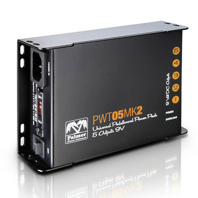 Palmer PWT 05 Mk2 Universal 9V Pedalboard Power Pack with 5 Outputs (NEW)
