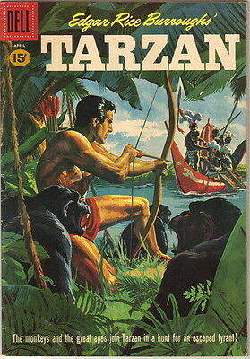 Tarzan Comic Book #123, Dell Comics 1961 FINE