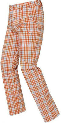 Puma Plaid Tech Mens Golf Pants - Orange