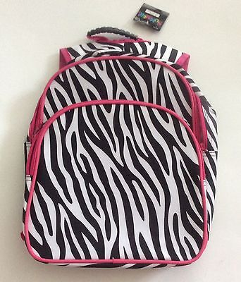 Toddler Backpack Black & Pink Zebra Print brand new with tags