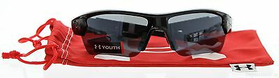 Under Armour - Shiny Black Gray Multi Youth Sunglasses