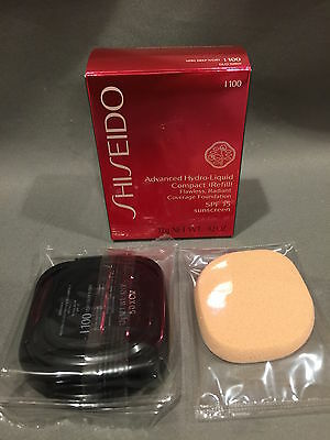 NIB Shiseido Advanced Hydro-Liquid Compact Refill I100 Very Deep Ivory SPF 15