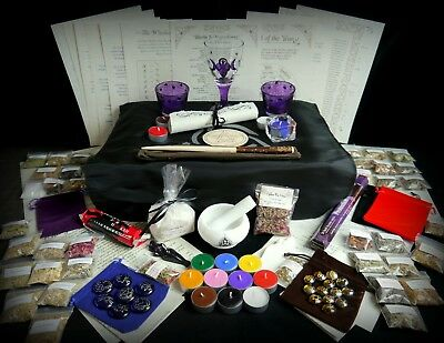 Huge Witchcraft Kit Wicca Pagan Wicca Pagan Mortar and Pestle Wand Herbs Altar
