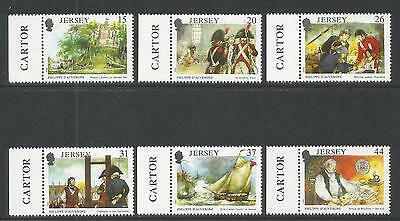 Jersey 1991 Philippe d'Auvergne/Naval Officer--Attractive Topical (553-58) MNH