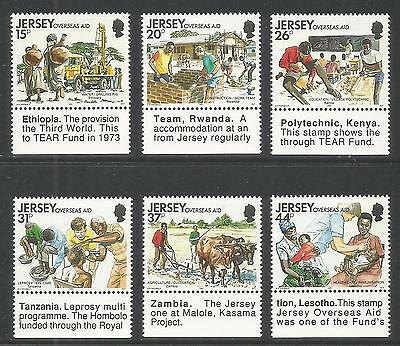 Jersey 1991 Overseas Aid--Attractive Topical (572-77) MNH