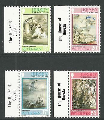 Jersey 1991 Christmas/Peter Pan--Attractive Literature Topical (578-81) MNH