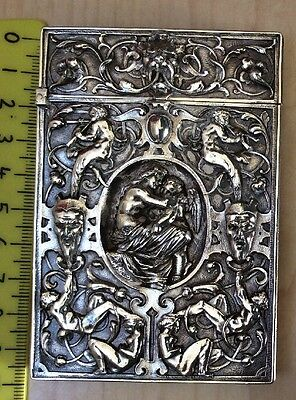 Ornate Vintage Silver Plate Visiting Card Case Pilkington & Co.