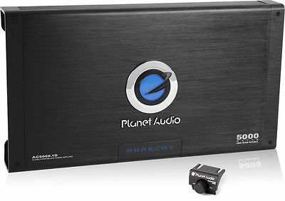 Planet Audio AC5000.1D 5000W Monoblock Anarchy Class D Power Car Amplifier Amp