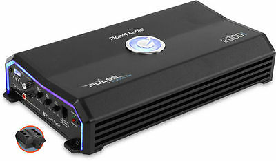 Planet Audio 2000W Class A/B Monoblock MOSFET 2Ohm Car Audio Amplifier PL2000.1M