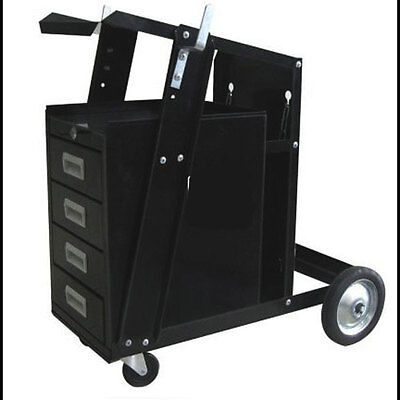100Lb Capacity 4 Drawer Steel MIG/TIG Welding Cart Plasma Cutter Cabinet Storage