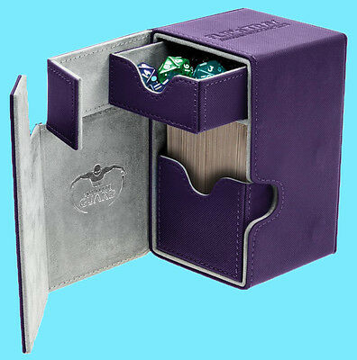 ULTIMATE GUARD FLIP n TRAY PURPLE 80+ XENOSKIN DECK CASE Card Box MTG CCG Game