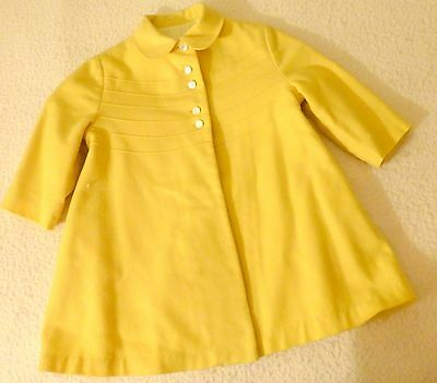 Vintage Childs Clothing 1950s Yellow Botany Coat & Umbrella