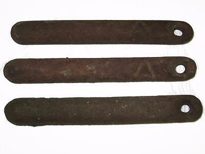 3 Vtg Antique Cast Iron 5 lb Window Counter Weights - Steampunk Industrial