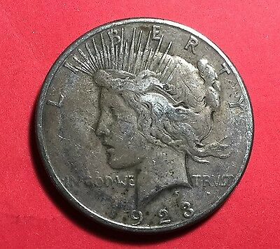 1923S US Peace SILVER Dollar! FINE! Old US Coins!