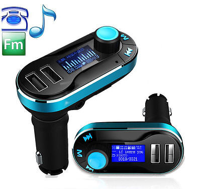 Dual USB Charger FM Transmitter for Car Radios Speaker Audio iPhone 7 6S Samsung