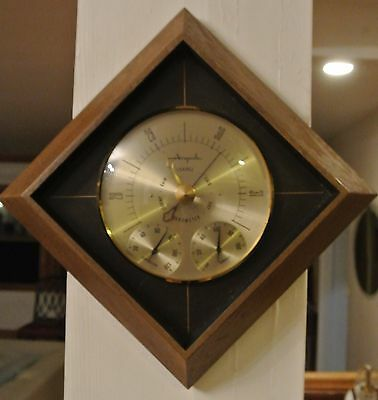 Vintage Airguide Wall Mount Weather Station Thermometer, Barometer, & Hygrometer