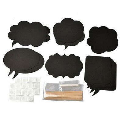 ds 10  Cardboard Signs Speech Bubbles Photo Booth Props Wedding Party Fad.