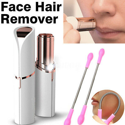 Finishing Touch Flawless Women Painless Face Facial Hair Remover & 2Pcs Stick