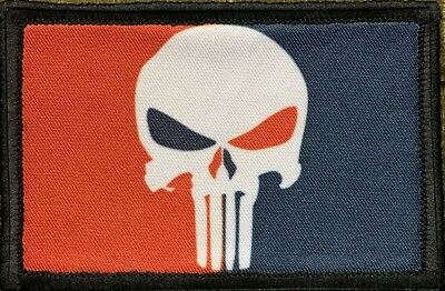 Major League Punisher Morale Patch Tactical Military Army USA Flag Hook Badge