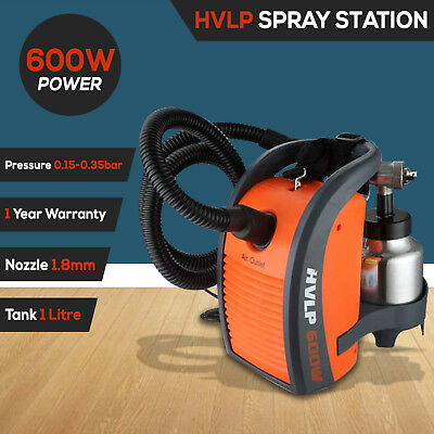 NEW Paint Sprayer Gun 600W HVLP DIY Electric Spray Station Air Tool 1.8mm Nozzle