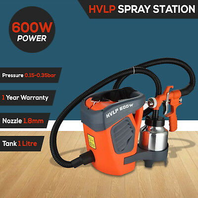 HVLP Paint Spray Gun Station 0.8HP DIY Electric Spray Gun Air Tool 1.8mm Nozzle