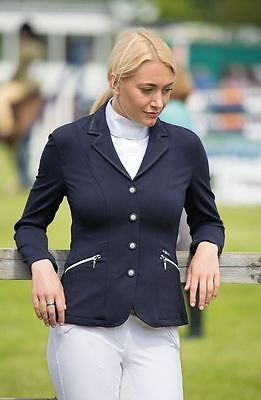 SHIRES SPRT HOLBURN SHOW JACKET LADIES NAVY horse riding performance wear