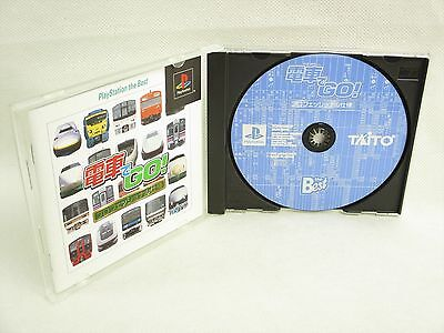 DENSHA DE GO Professional The Best Item ref/ccc PS1 Playstation Japan Game p1