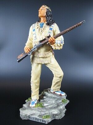 Winnetou Apache with Silver Rifle 26 cm Figure, Veronese Collection, Karl May