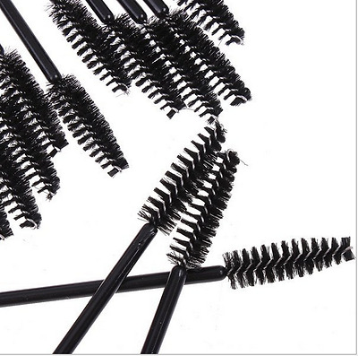 100pcs Disposable Eyelash Black Mascara Wand Applicator Brush Makeup Tool