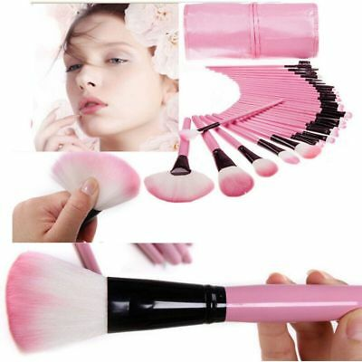 32pcs Makeup BRUSHES Kit Set Powder Foundation Eyeshadow Eyeliner Lip Brush NEW