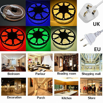 1/2/3/5/10/15/20M Striscia Strip 3014 Smd Led Cuttable Luce Interno 220V 120°