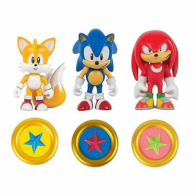 Sonic The Hedgehog 25th Anniversary 3 Figure Pack - Sonic, Knuckles and Tails