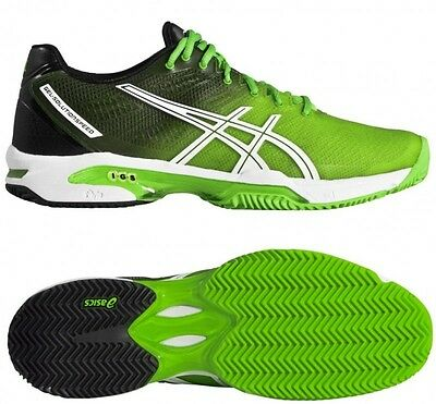 Mens Green asics Gel Solution Speed 2 Clay Court Tennis Shoes Trainers Size UK 9
