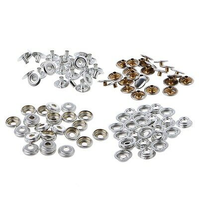 Stainless Steel 100 Pcs Fastener Snap Press Stud Cap Button Marine Boat Canvas