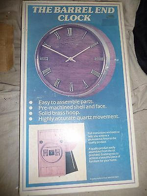 Clock barrel end mahagony assembly kit 1960's 25cm NEW