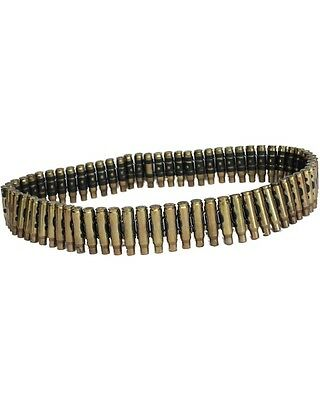 New Kombat Metal Adult Military Fancy Dress Army Bullet Belt