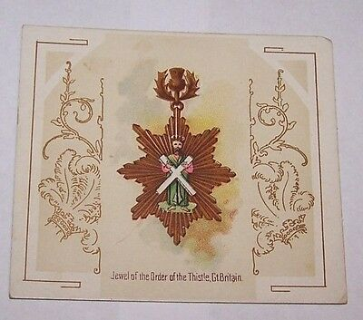 Antique Trade Card-Allen & Ginter-Richmond Virginia-Fraternal-Decorations-Orders